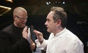 Heston Blumenthal és Ferran Adriá pózol