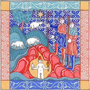 Mithras születése.