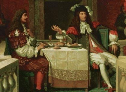 XIV.Lajos és Moliére étkezése