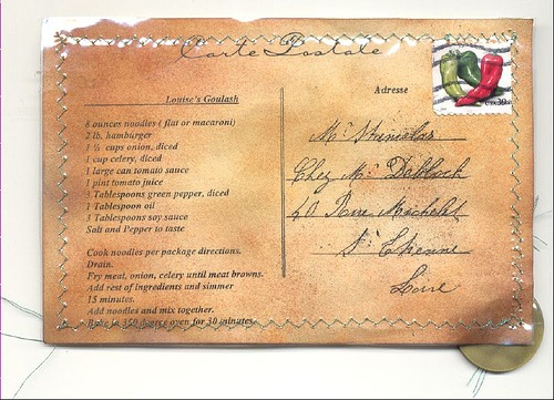 Louise's Goulash (Louise gulyás receptje), képeslapon