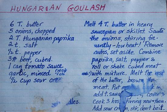 Egy titkos amerikai családi recept (Hungarian Goulash)