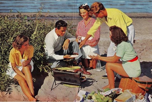 Grill Party, 1950-es évek, USA