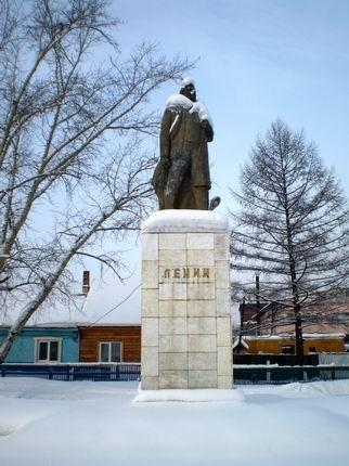 V.I.Lenin sobra valahol Szibériában, Fotó: dr.Pázmándi Gyula