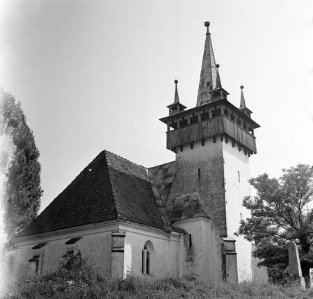 Csombord (Ciumbrud), templom, Photo: Szabó tamás (1977)