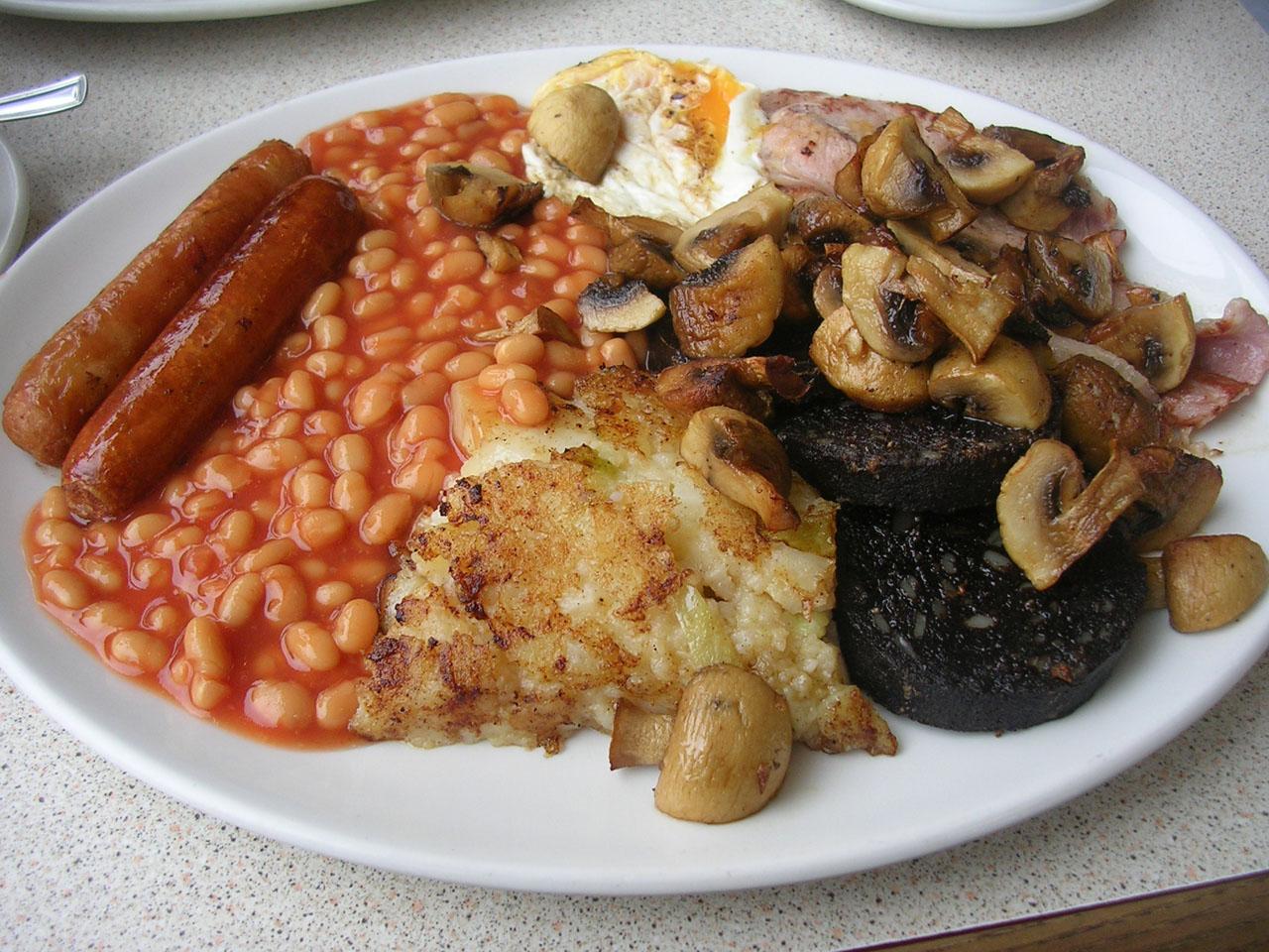 English breakfast, blackpudding; Forrás Food Cook