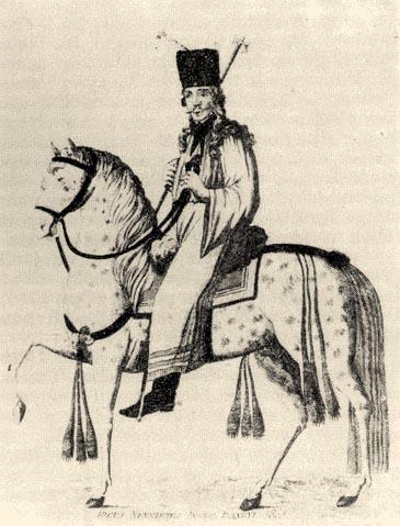 """805-ből való metszet, amely a """"híres nevezetes Angyal Bandi""""-t ábrázolja"""
