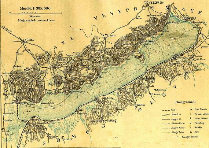 balaton térkép; Forrás:  mek.niif.hu