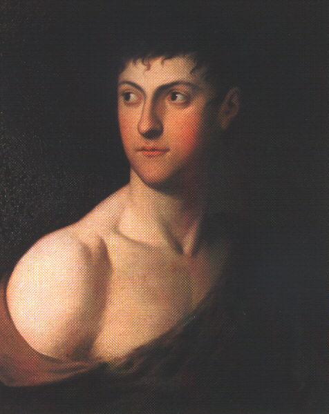 Dtunder János festménye: Gróf Festetics László mint Herkules; Forrás: hung-art.hu