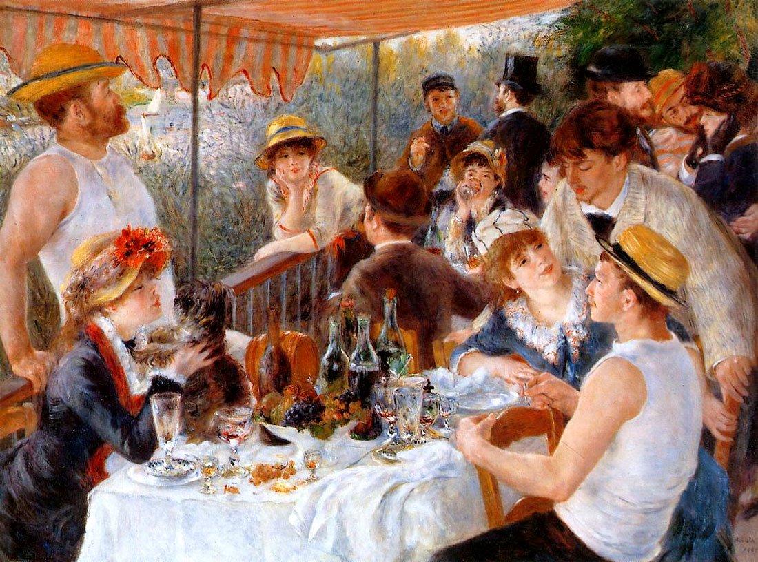 Renoir - Evezősök reggelije