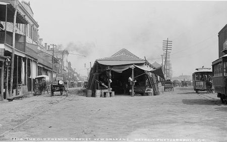 "A hajdani ""Francia-piac"", New Orleans ( (William Henry Jackson 1880-1890), Forrás: drx.typepad.com"