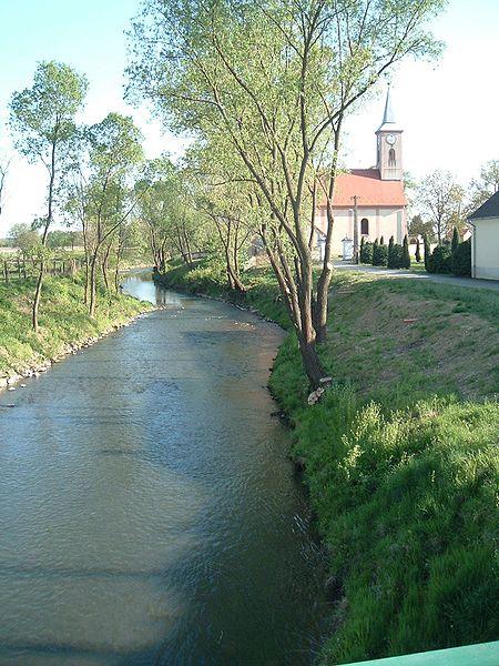 Vaskeresztes, a Pinka patak; Forrás: wikipedia