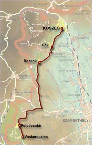 Borút térkép, benne Vaskeresztessel; Forrás:  naturpark.hu