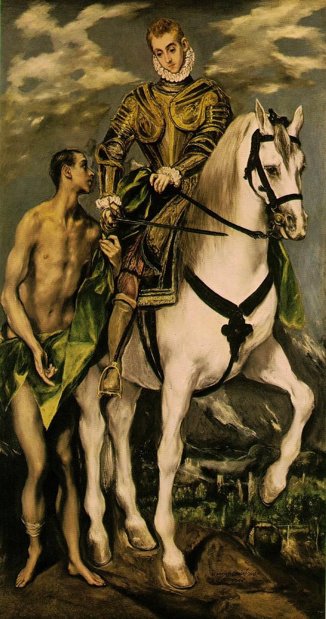 Szent Márton köpenye, El Greco, 1597-99