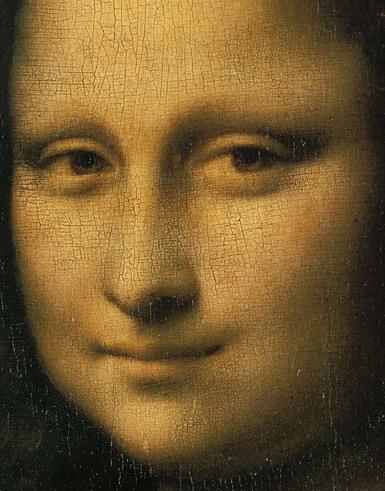 Leonardo daVinci, Mona Lisa, részlet