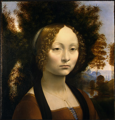 Leonardo da Vinci, Ginevra de' Benci (1474/1478) Forrás: nga.gov