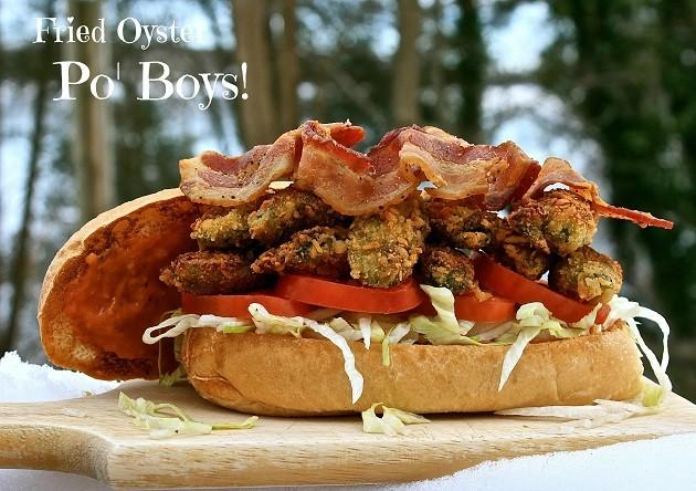 """Sült osztrigás Po"""" Boys szendvics"""