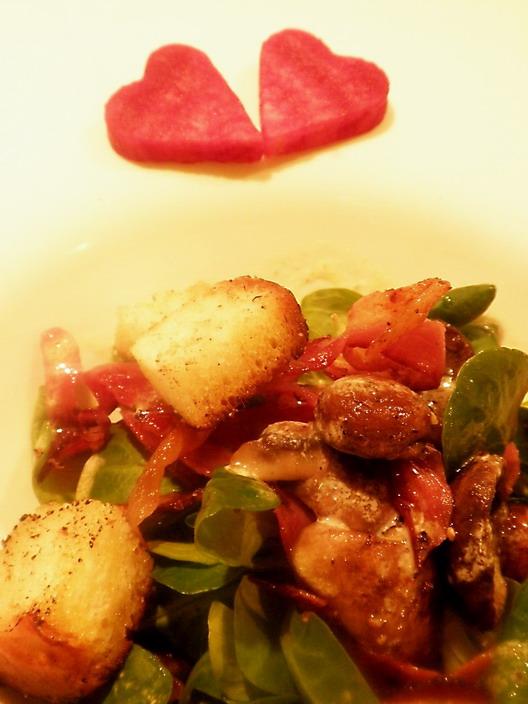 Valentin napi saláta; www.foodandwine.hu