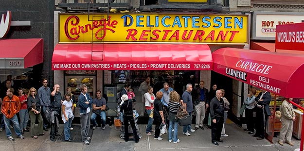 Carnegie Deli (New York); Forrás:  rocketlounge.wordpress.com