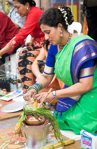 Pongal fesztivál, India; Forrás: flickr.com