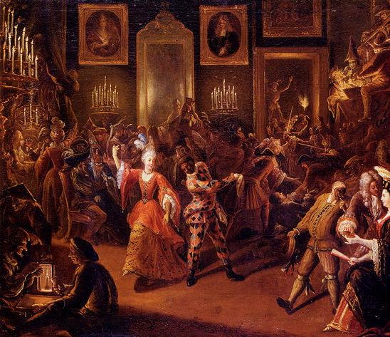 P Bergaigne: Karneváli bál; Forrás:  1st-art-gallery.com