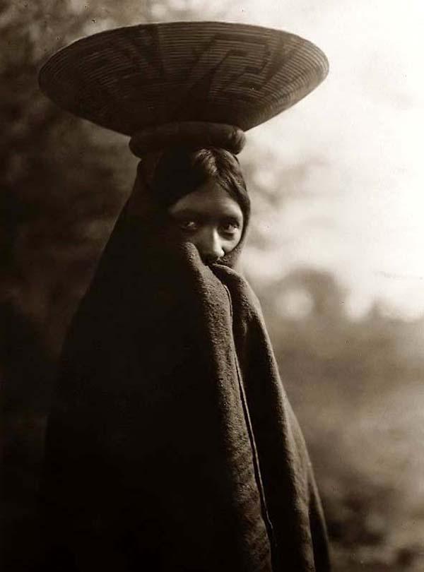 Maricopa indián lány; Forrás: : old-picture.com