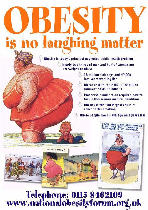 """""""Az elhízás nem nevetséges""""; Forrás: sochealth.co.uk"""