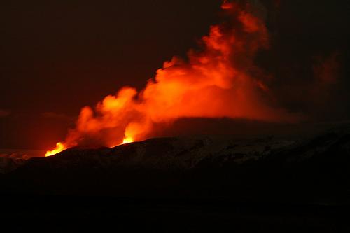 Eyjafjallajökull vulkán; Forrás: greenfudge.org