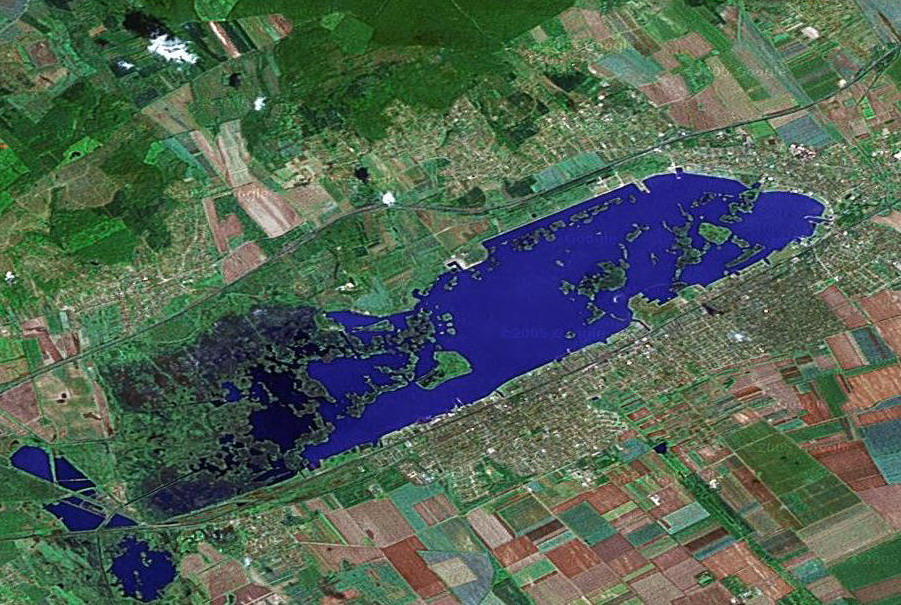 A Velencei-to műholdas felvétele, Google Earth