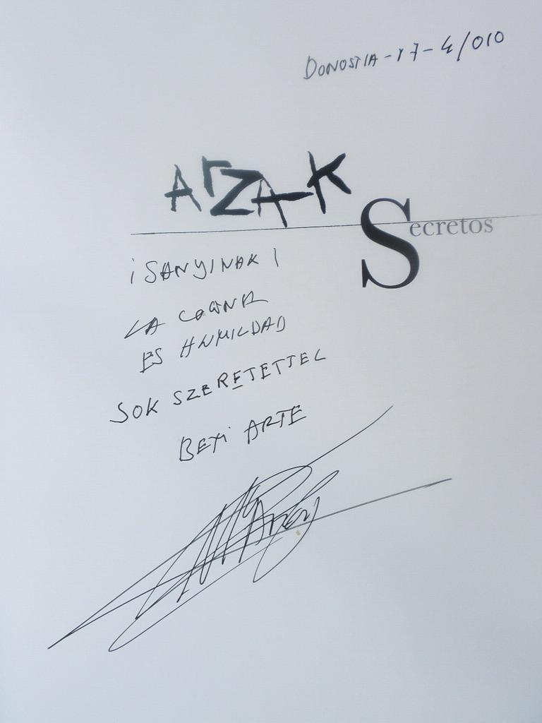 Arzak - Secretos 8titkok) című könyve; www.foodandwine.hu