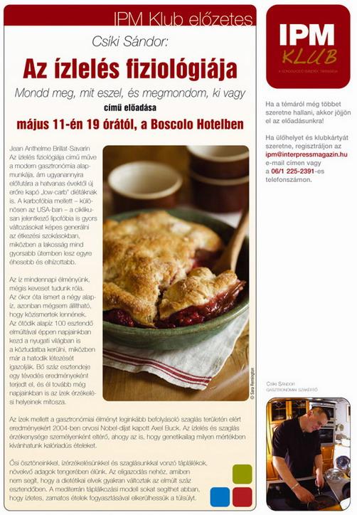 Csíki Sándor előadása, IPM Klub, www.foodandwine.hu