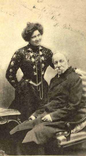 Jókai Mór második feleségével, Nagy Bellával, Forrás: lutheran.hu