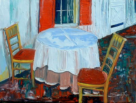 Asztal két személyre, Forrás: mystic-art.com