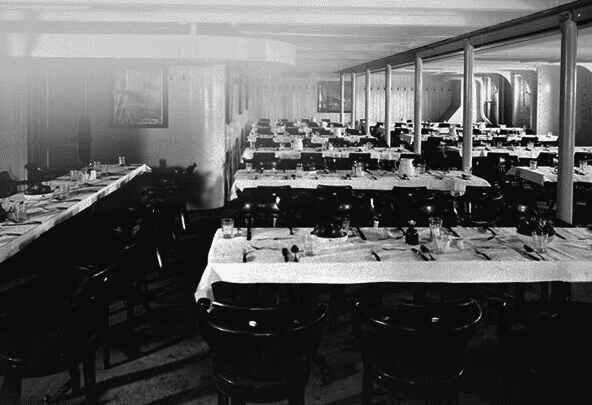 A Titanic harmadosztályú étkezője