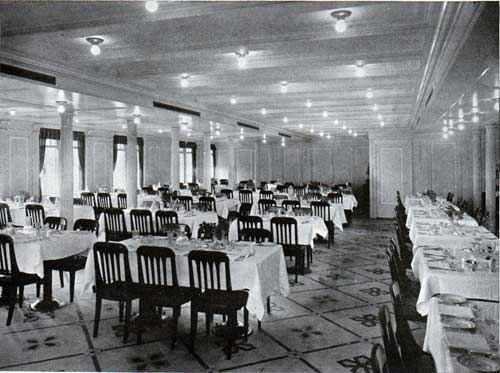 A Titanic másodosztályú, világos, levegős étkezőszalonja