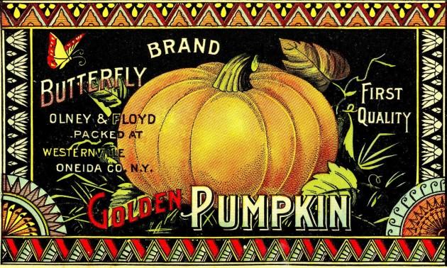VintagePumpkinProduceLabel
