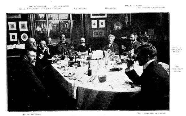A Punch szerkesztősége 1895-ben