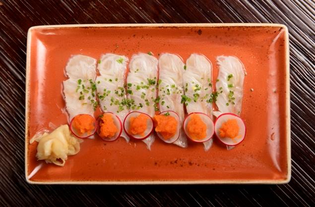 New Style Seabass Sashimi