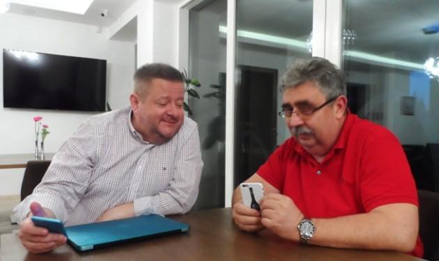 Harmath Csaba és Kovács Károly a Botrytis Hotelban