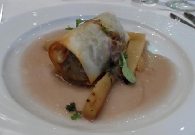 """Pentaton kacsarétes """"Combja – melle – mája – tepertője - hája"""" (Palotai Csaba – chef, Brill Bisztró, Békéscsaba)"""