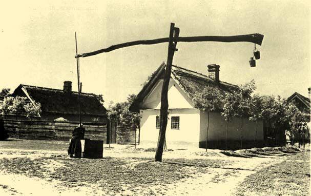 Falurészlet (Jászjákóhalma, Szolnok megye)(Balassa-Ortutay: Magyar néprajz)