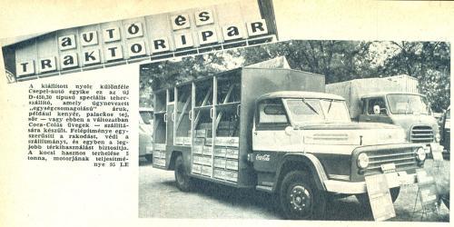 Coca-Cola szállítására kialakított hazai gyártású Csepel teherautó (1969) (Forrás: retronom)