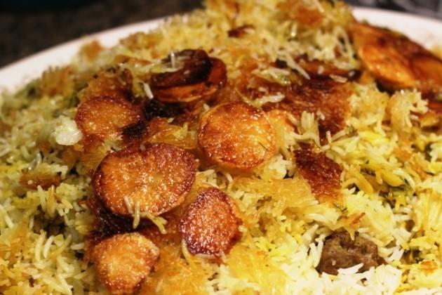 Iráni káposztás, húsgolyós, burgonyás rizses kalam polo