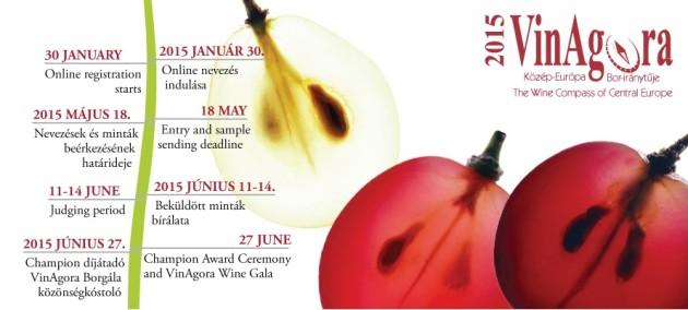 A VinAgora 2015 borverseny menetrendje a nevezéstől a borgáláig.