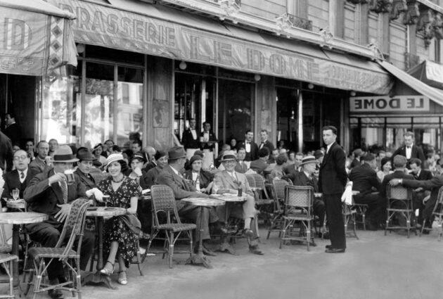 Párizsi kávéháza, 1920-as évek eleje (Natl.Geo)