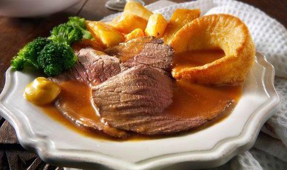 Vasárnapi angol ebéd, marhasülttel