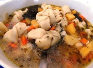 Kötött galuska leves (Békés)