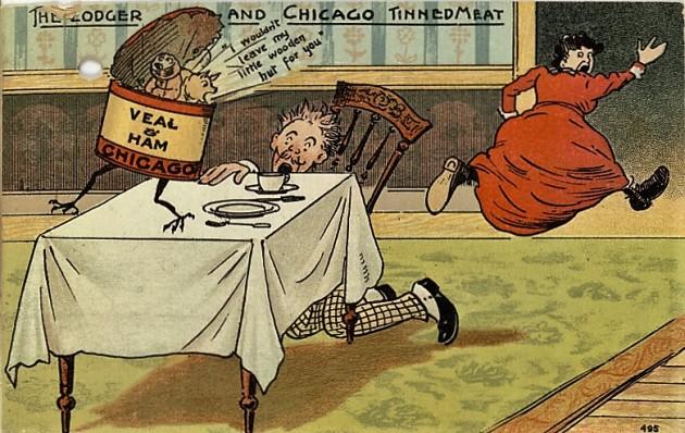 """Chicago-i """"borjú és sonka"""" konzerv (19. század vége)"""