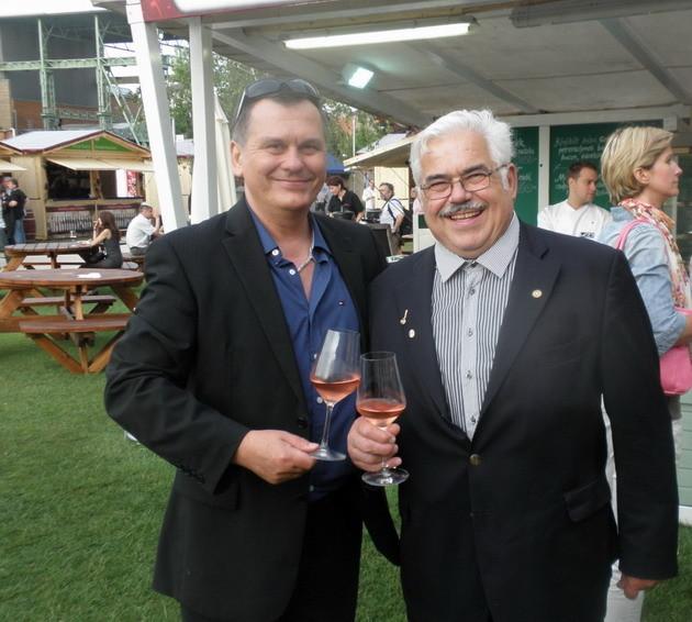 Georges Pralus és Csíki Sándor (FOOD&WINE) a Gourmet Fesztiválon (2011)