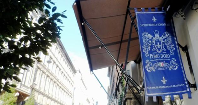 A bemutató helyszíne: Gastronomica Pomo d'Oro, Budapest