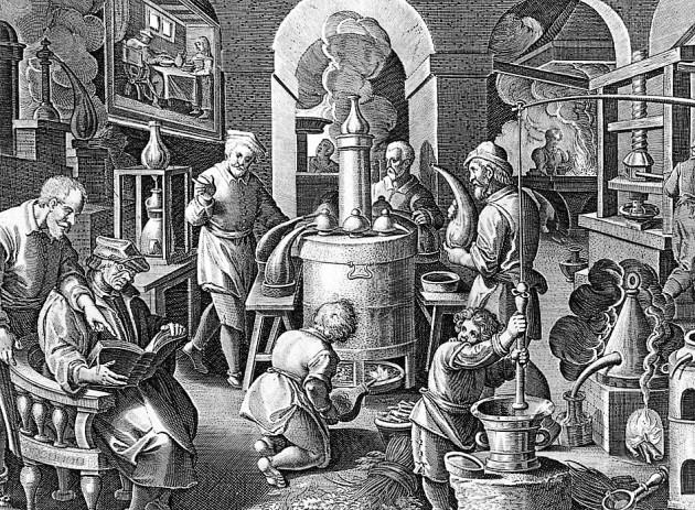 Stradamus: Alkimisták (1550) (Forrás: searchoflife.com)